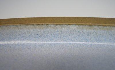 画像2: 相羽 鴻陽 作 「烏泥内均釉外縁切足楕円水盤」