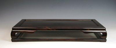 画像1: 縞黒檀長方卓(中品卓 ・ 日本製)